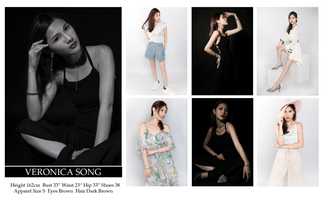 model comp card sample by fashion portrait photographer hk paulstylist